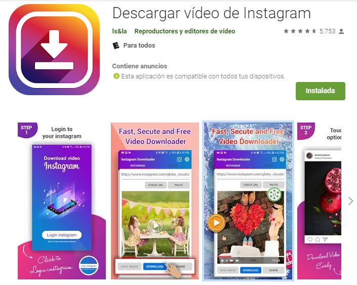 Descargar IG Videos